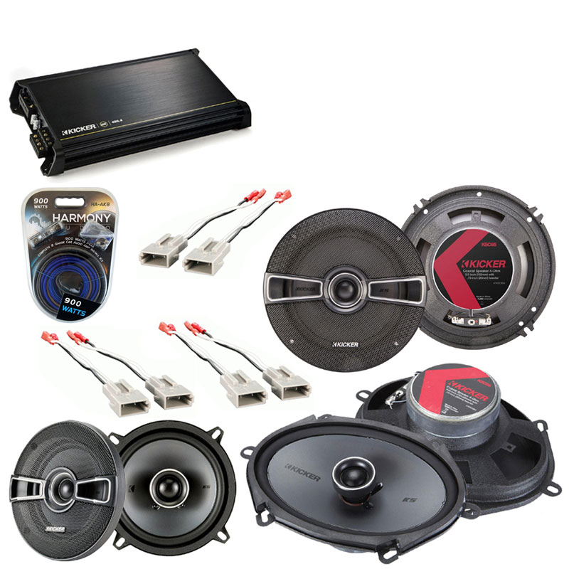 Ford Escort 1991-1996 OEM Speaker Upgrade Kicker KSC5 KSC65 KSC68 & DX400.4 Amp