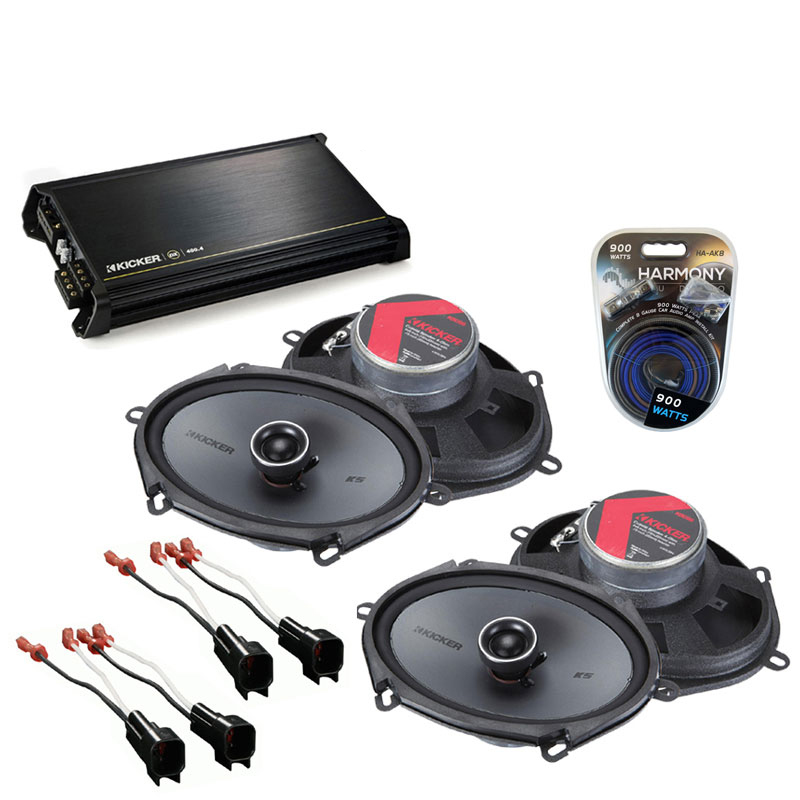Ford F-150 2004-2008 Factory Speaker Replacement Kicker (2) KSC68 & DX400.4 Amp