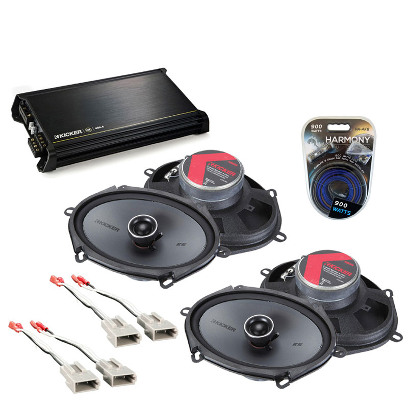 Ford F-150 1997-2003 Factory Speaker Replacement Kicker (2) KSC68 & DX400.4 Amp