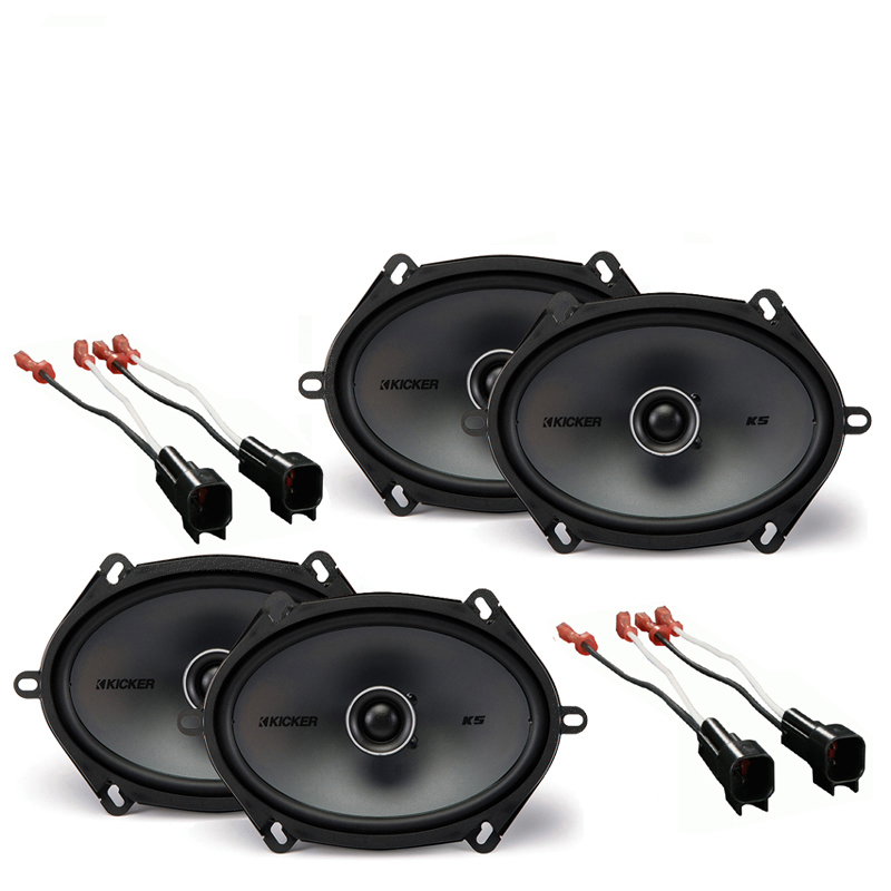 Ford F-650/750 2005-2010 Factory Speaker Upgrade Kicker (2) KSC68 Package New