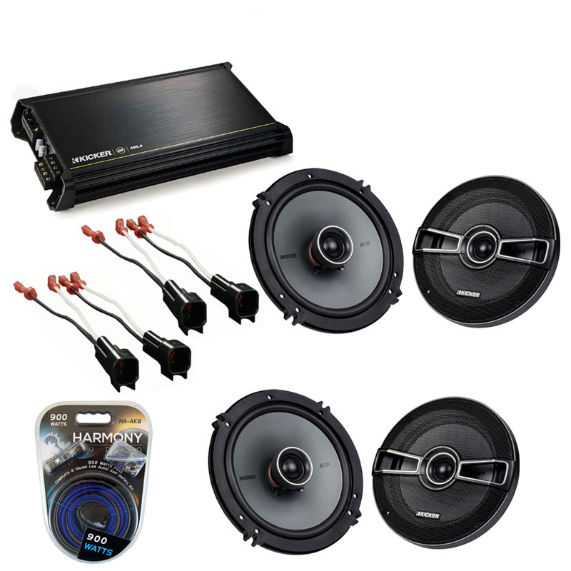 Ford Fusion 2006-2009 Factory Speaker Replacement Kicker (2) KSC65 & DX400.4 Amp