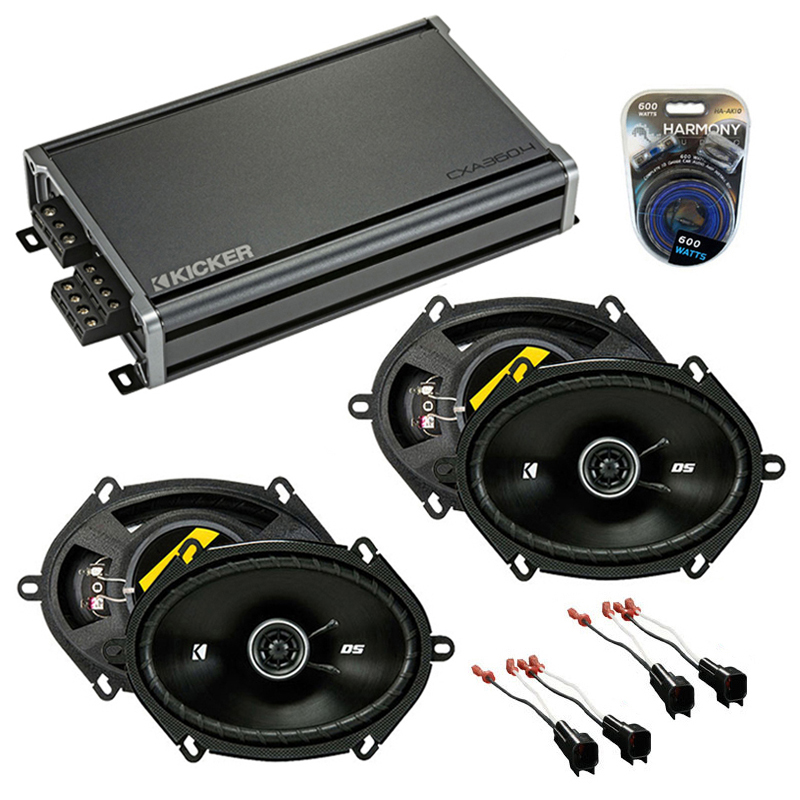 Compatible with Ford Mustang 2005-2009 Factory Speaker Replacement Kicker (2) DSC68 & CXA360.4