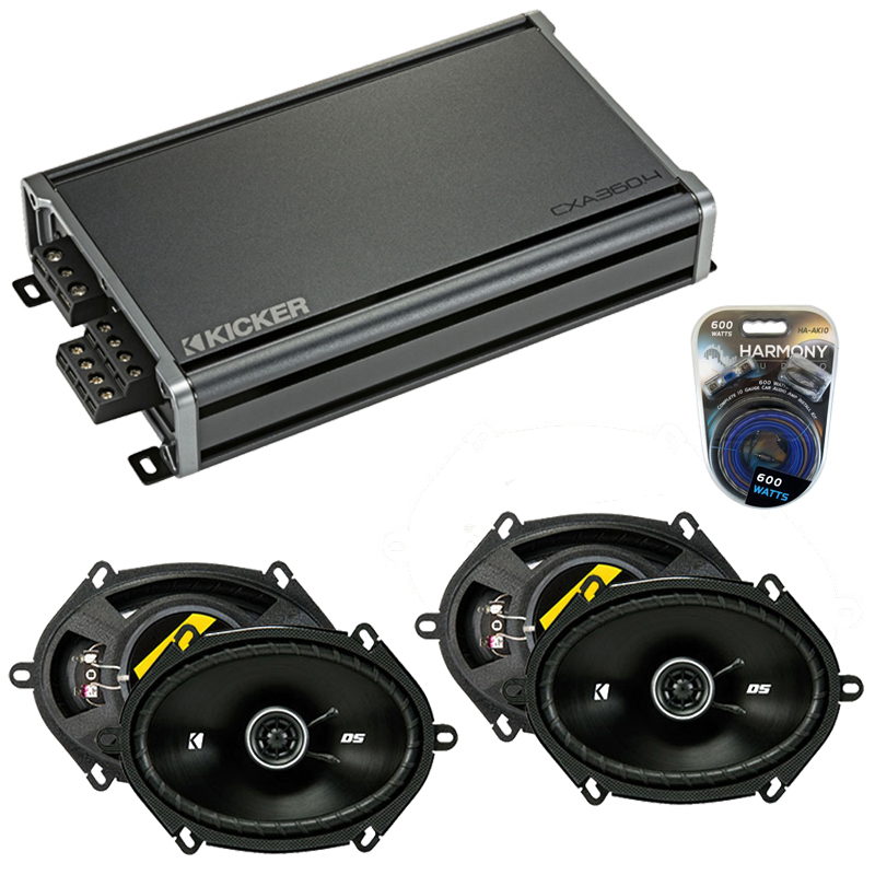 Compatible with Ford Mustang 1994-1998 Factory Speaker Replacement Kicker (2) DSC68 & CXA360.4