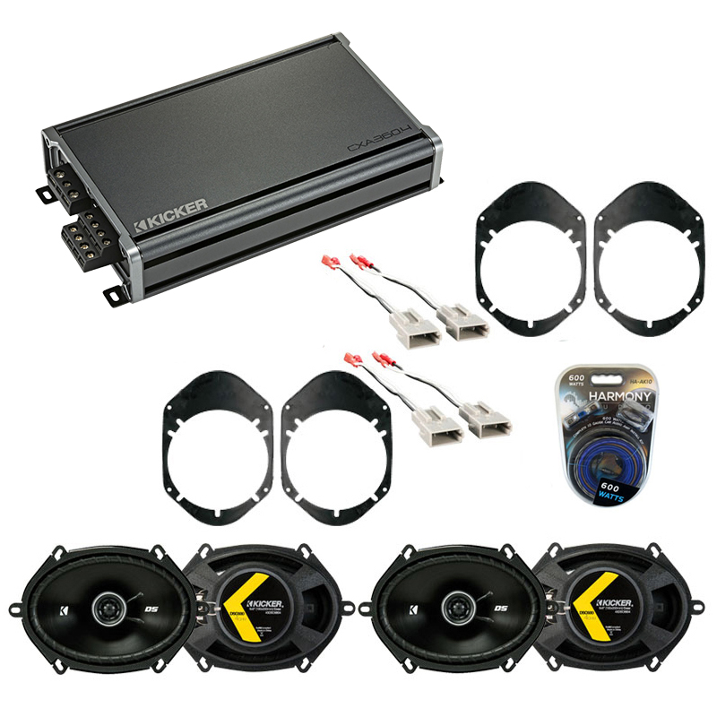 Compatible with Ford Taurus 1996-1999 Factory Speaker Replacement Kicker (2) DSC68 & CXA360.4