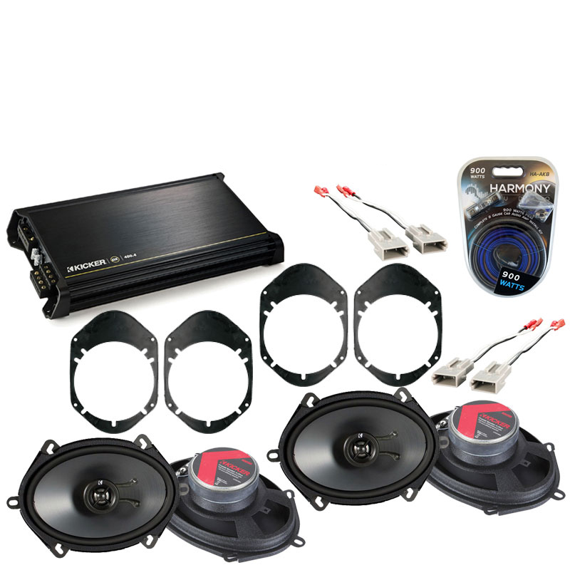 Ford Taurus 1996-1999 Factory Speaker Replacement Kicker (2) KSC68 & DX400.4 Amp