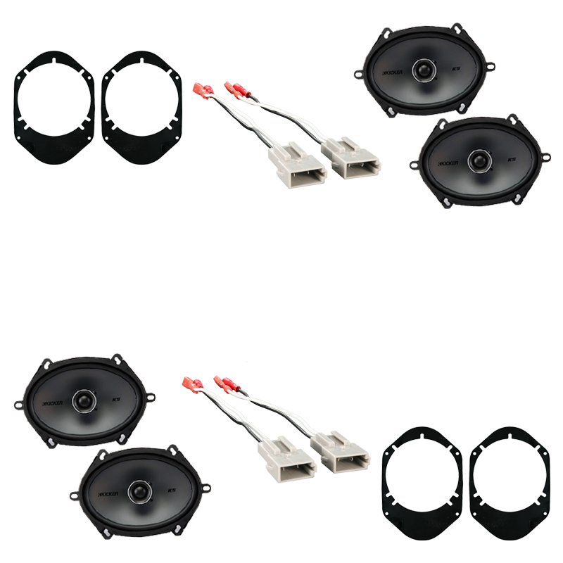Ford Taurus 1996-1999 Factory Speaker Replacement Kicker (2) KSC68 Package New