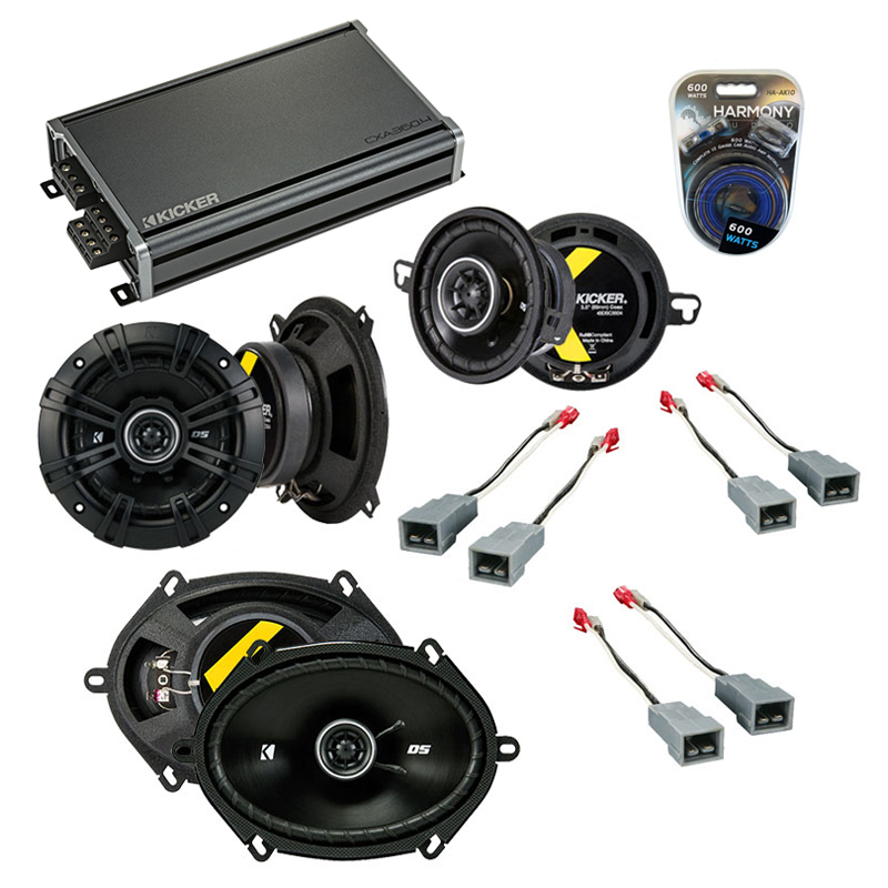Compatible with Ford Taurus 1986-1989 Factory Speaker Replacement Kicker DS Series & CXA360.4