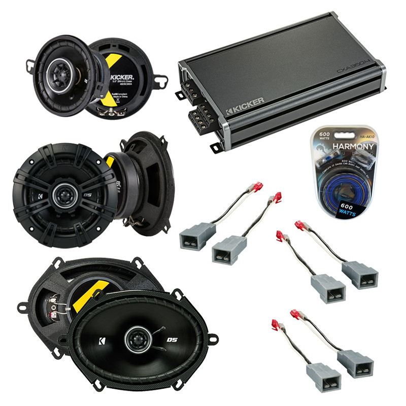 Compatible with Ford Thunderbird 1983-1985 Speaker Replacement Kicker DS Series & CXA360.4 Amp