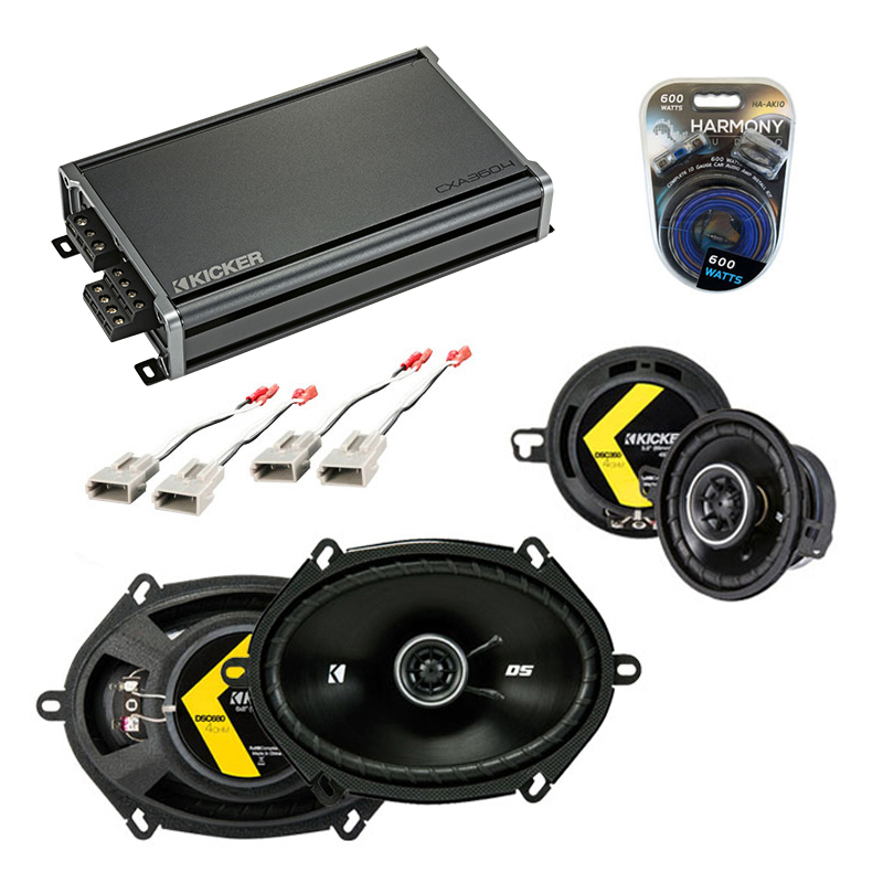 Compatible with Ford Thunderbird 2002-2005 Speaker Replacement Kicker DSC68 DSC35 & CXA360.4 Amp