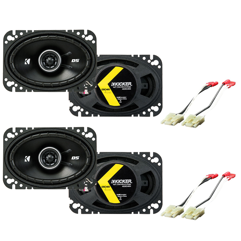 Harmony Audio Compatible With 1988-94 GMC Sierra (2) DSC46 New Factory Speaker Replacement Upgrade Package