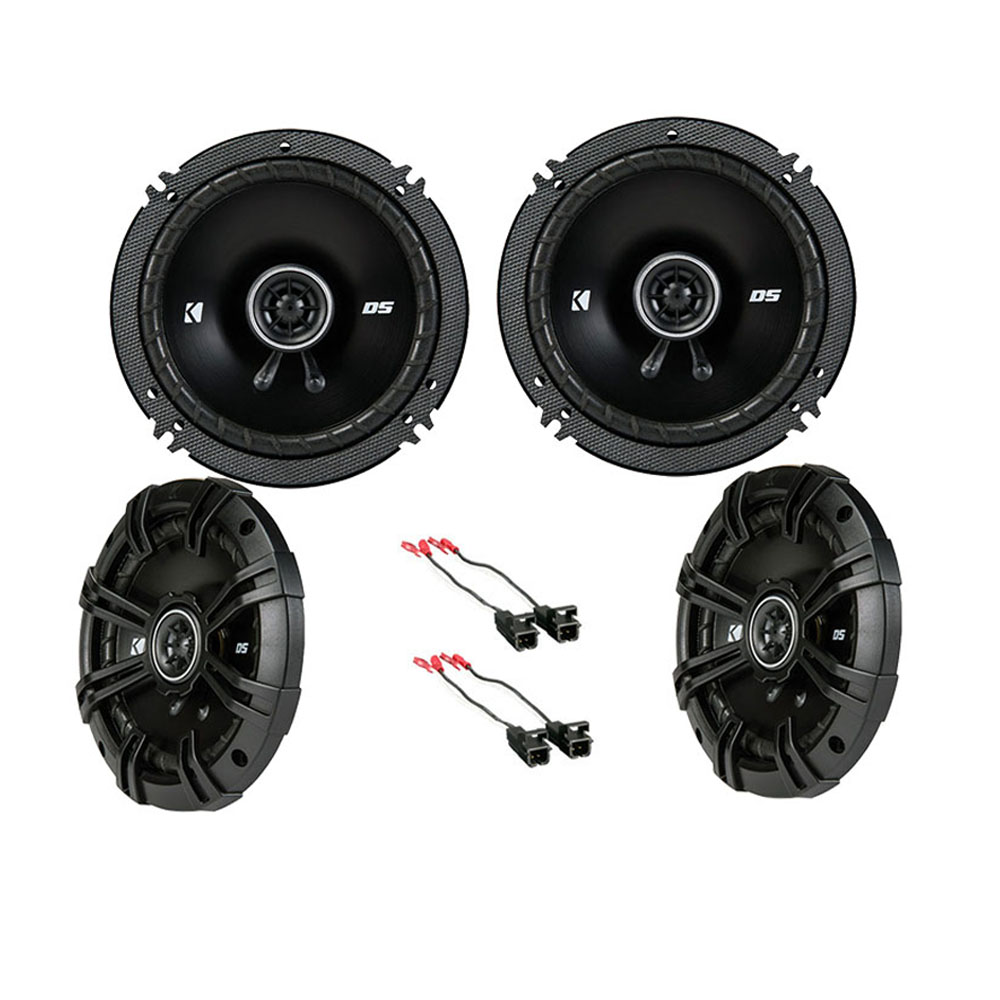 """Kicker Bundle Compatible with 2001-2002 GMC Yukon XL 43DSC6504 43DSC504 New Factory Speaker Replacement Package With HA-8230025.25"""" 6.5"""" Speakers Adapter Kit"""