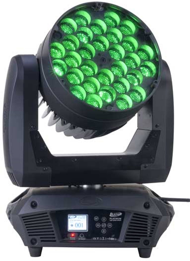 Elation Platinum Wash Led Zoom Compact RGBW Moving Head Wash with 11-50 Degree Zoom