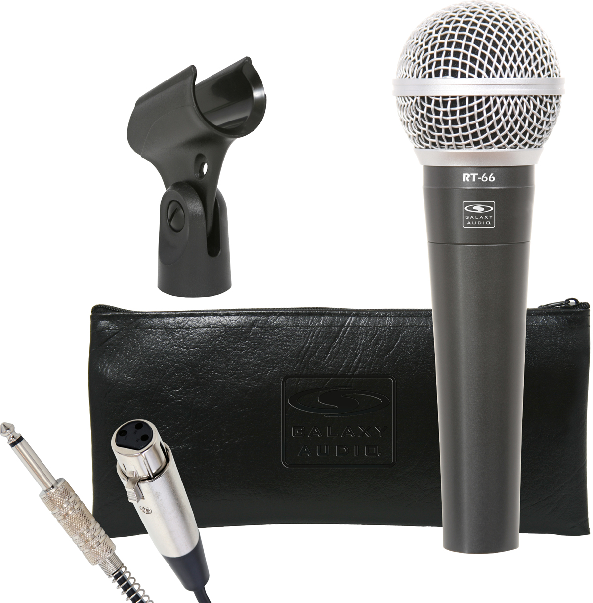 """Galaxy Audio RT-66P RT66 Mics with 15' 1/4"""" Cable Bag & Clip"""