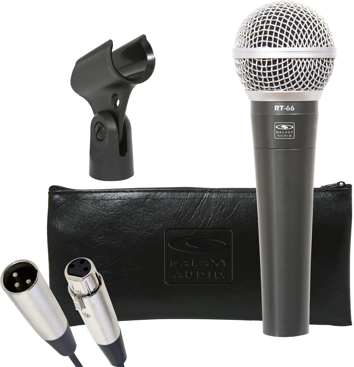Galaxy Audio RT-66X RT66S Mic with 15' XLR Cable Bag & Clip
