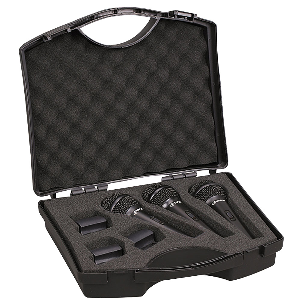 PYLE-PRO PDMICKT80 Dynamic Cardioid Vocal Mic with Clips 3 Pack