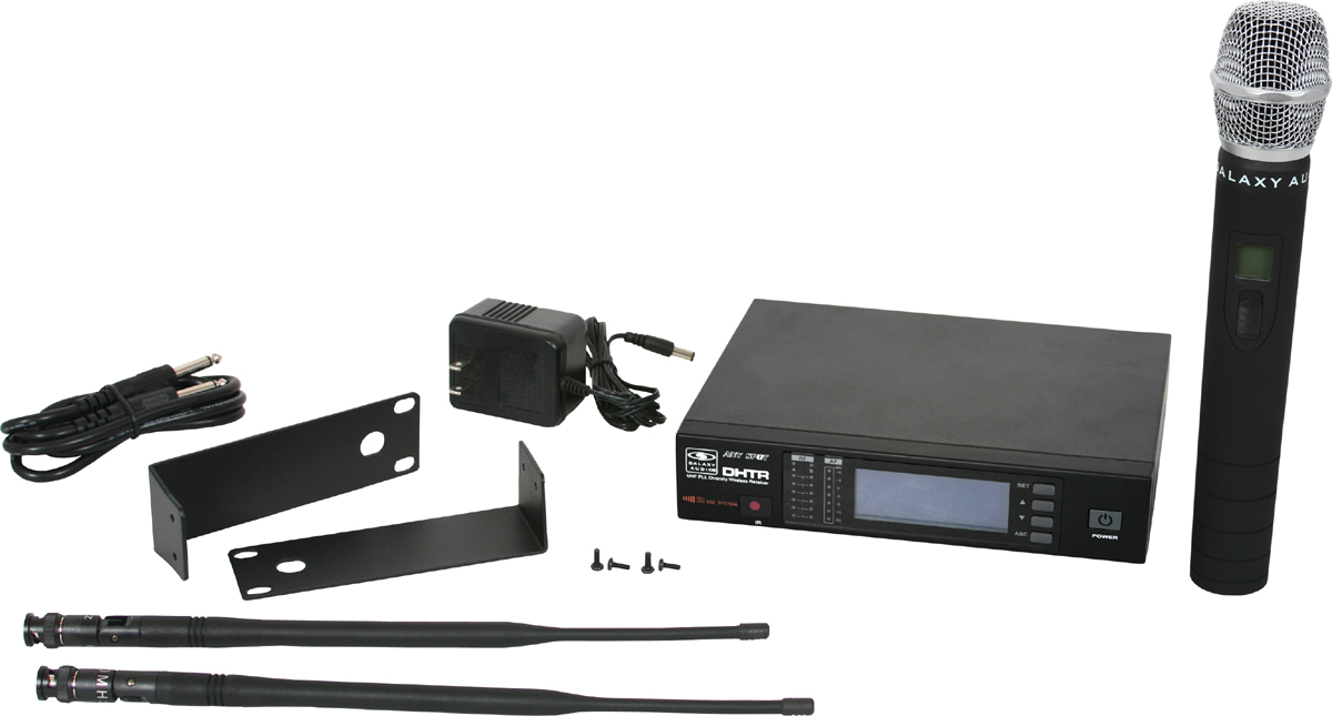 Galaxy Audio DHTR/64 D120 Channel UHF DHT Receiver with MBP64 Body pack Transmitter
