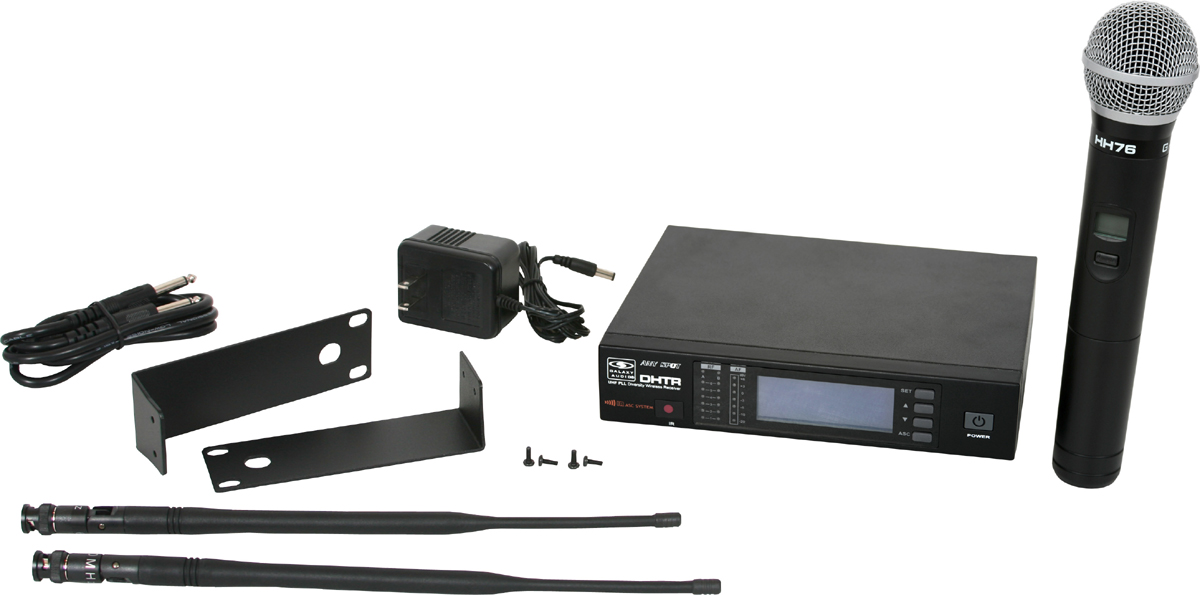 Galaxy Audio DHTR/76 120 Channel UHF DHT Receiver with MBP76 Body pack Transmitter