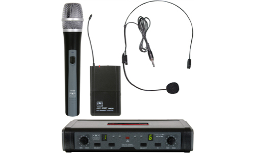 Galaxy Audio ECDR/HHBP ECD Wireless System with Headset and Handheld Microphone