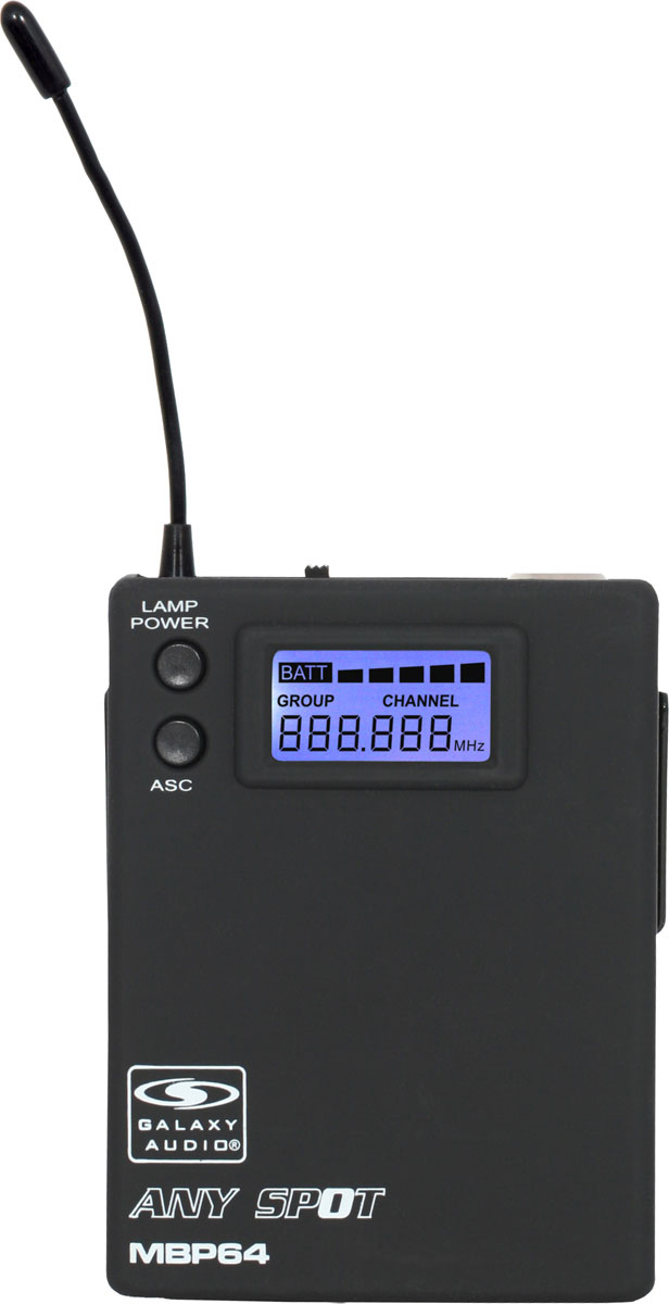 Galaxy Audio MBP64 Body Pack Transmitter for TRC Series Wireless Mics