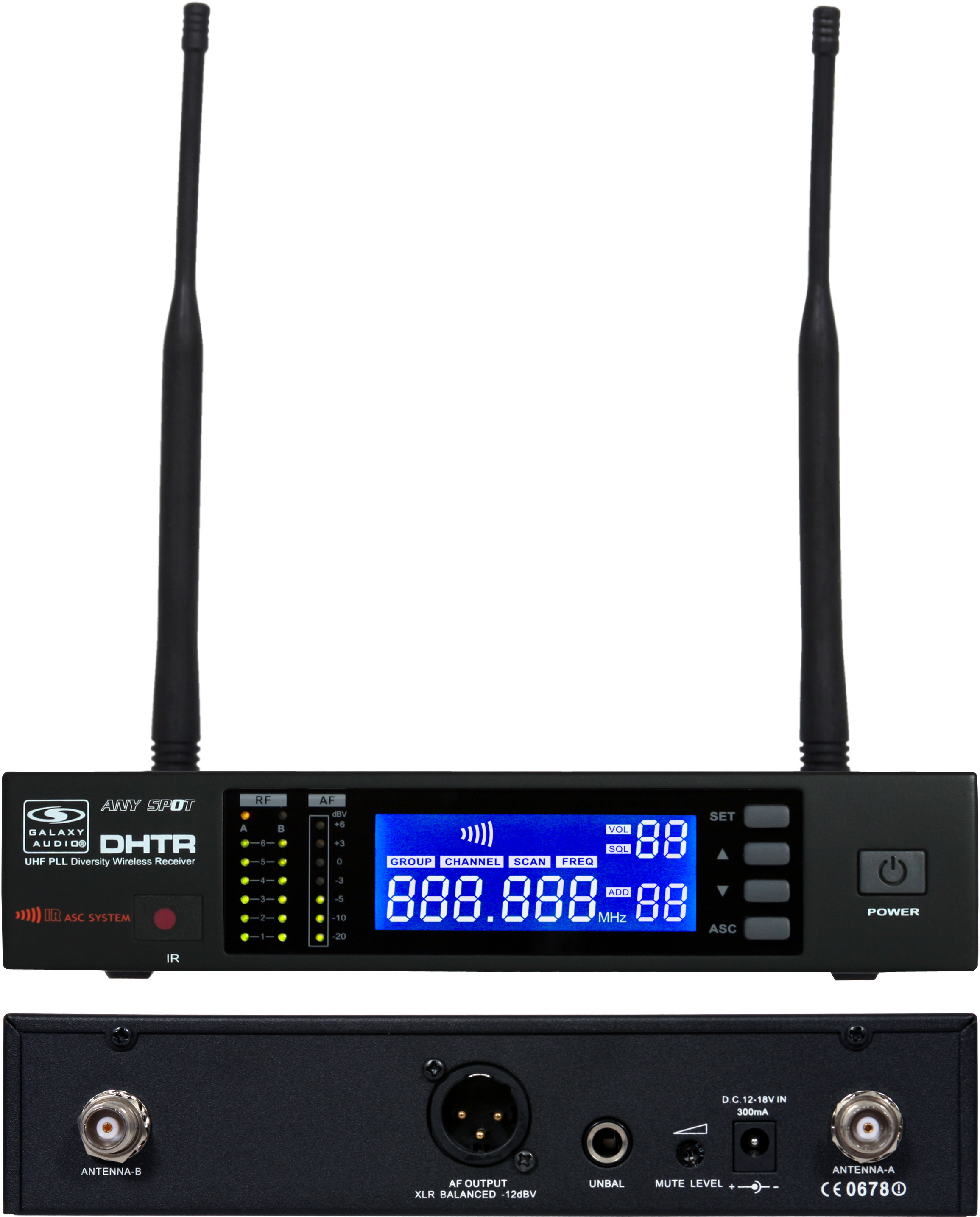 Galaxy Audio DHTR/76 Wireless Mic System w/ DHTR Receiver & MBP76 Transmitter