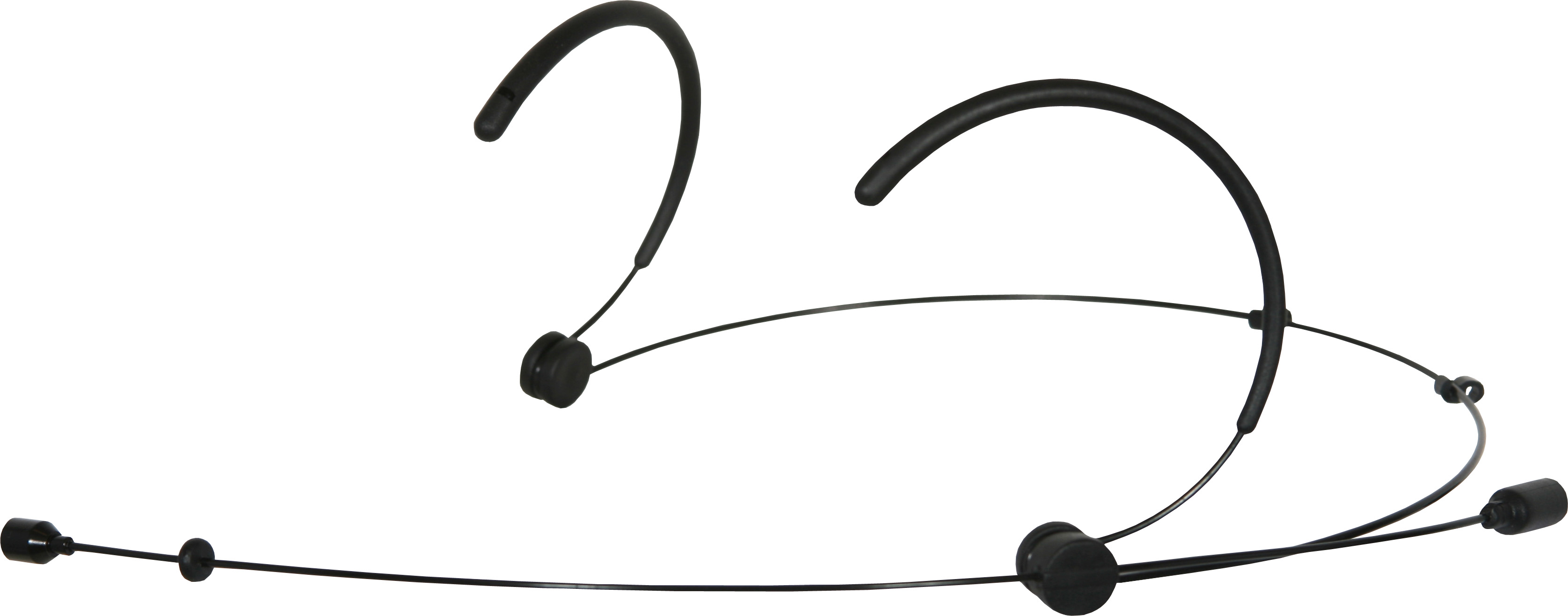 Galaxy Audio HS3-OBK-SEN Black Lightweight Omni Headset Mic Wired for Sennheiser