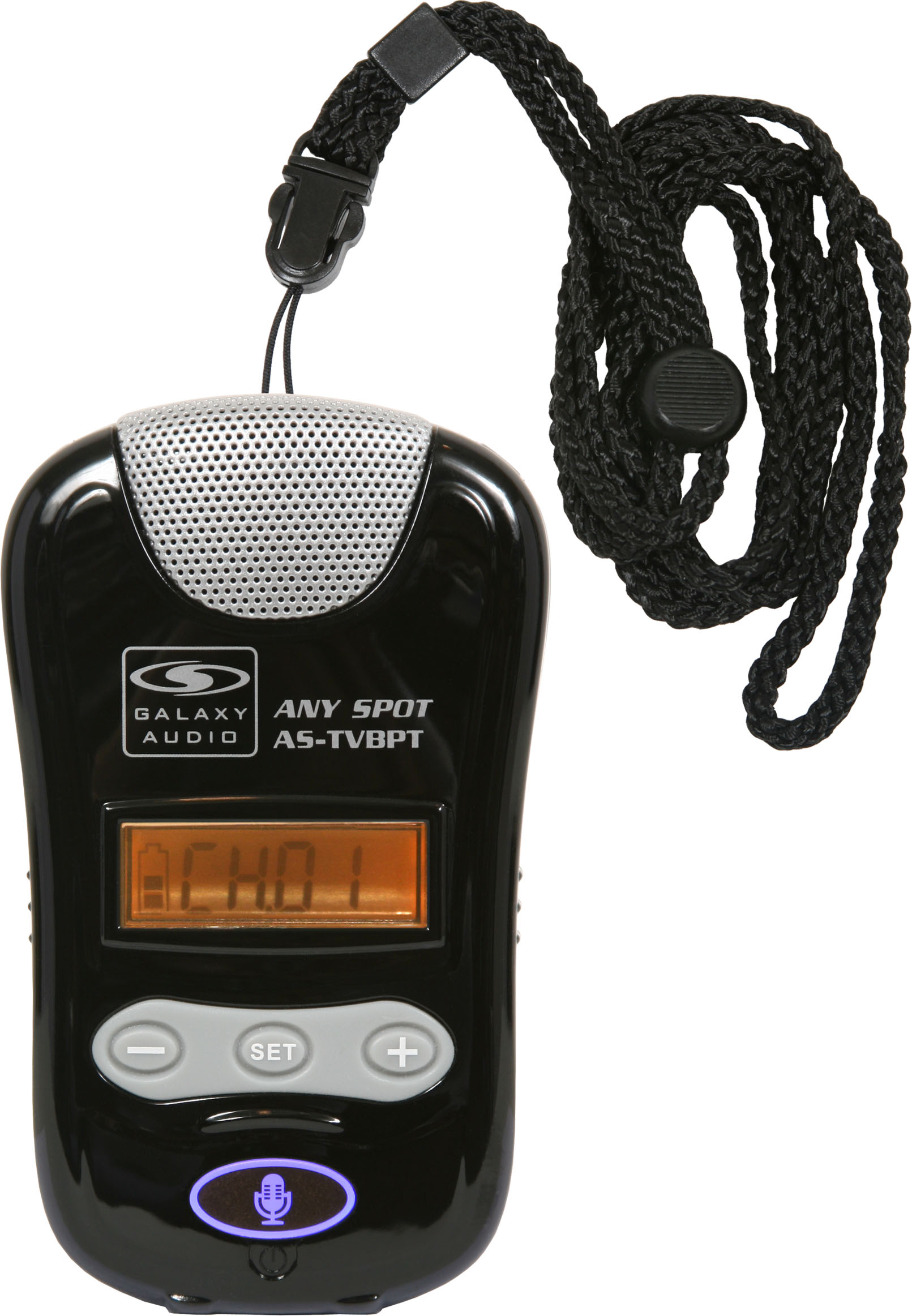 Galaxy Audio TG-BPTR-4 Any Spot Tour Guide Kit with AS-TVBPT Pendant Transmitter