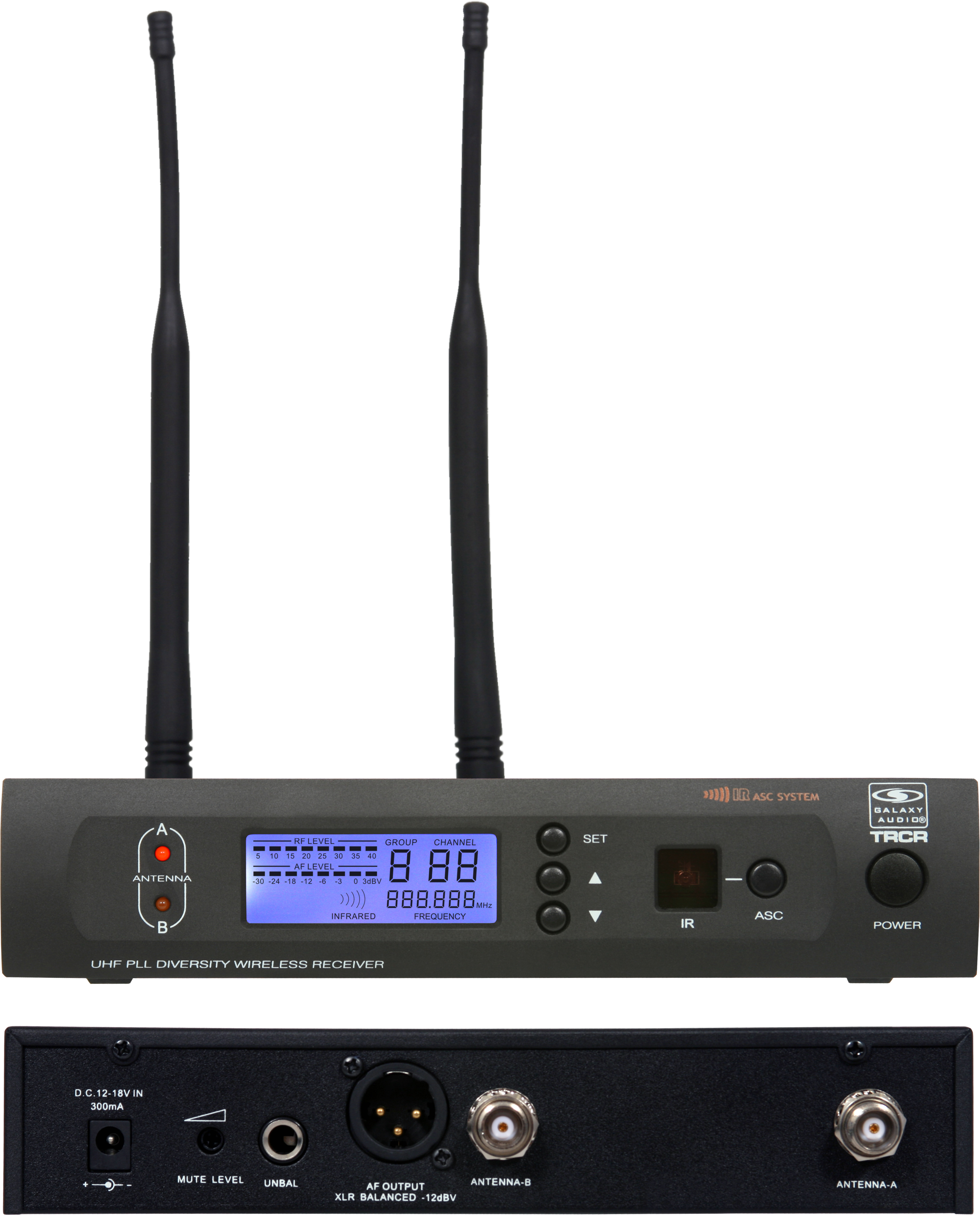 Galaxy Audio TRCR/64 Wireless Microphone System with MBP64 Body Pack Transmitter