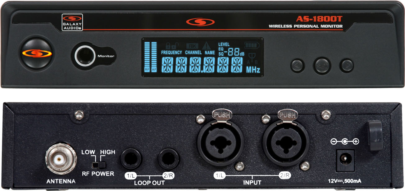 Galaxy Audio AS-1800TB3 Any Spot 554-570 MHz Frequency Range AS-1800T Wireless Transmitter