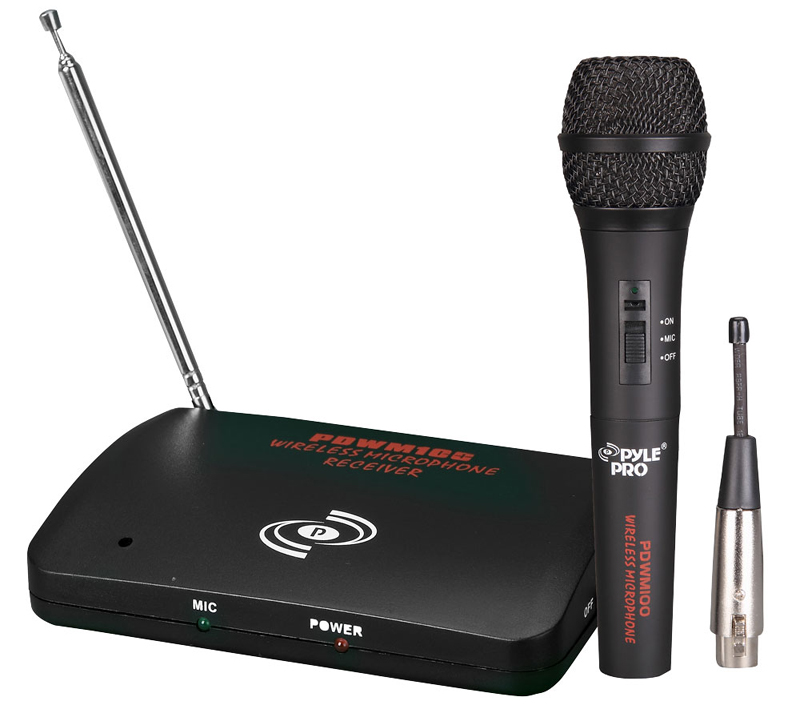 Pyle PDWM100 Dual Function Wireless/Wired Microphone System