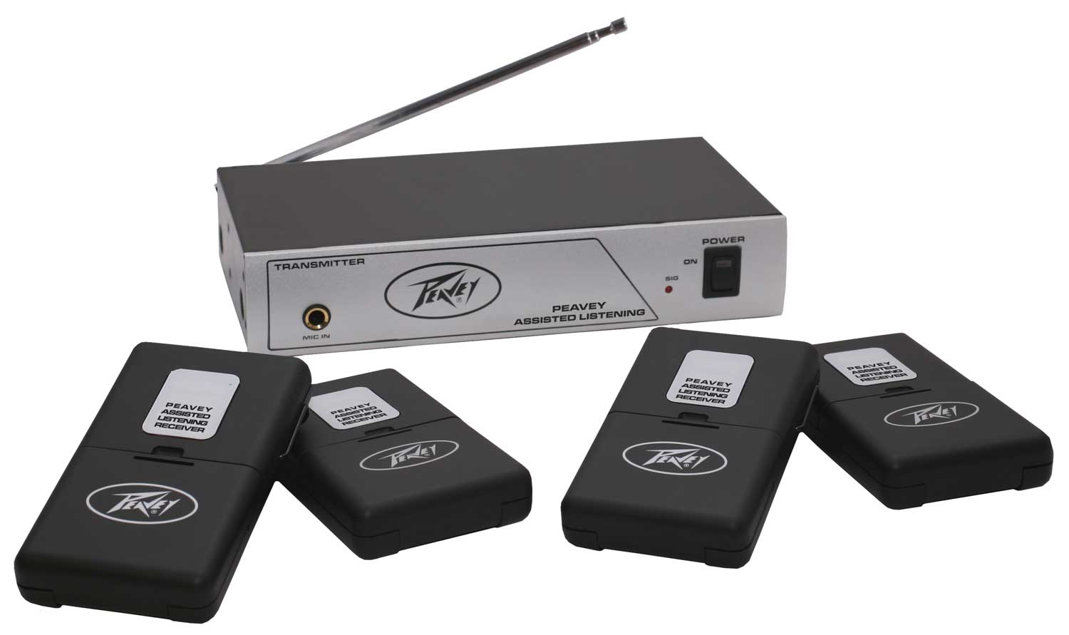 Peavey Peavey Assisted Listening Sys. 72.1 MHz Includes Transmitter Four Receivers & Four Standard Earbuds (3010620)
