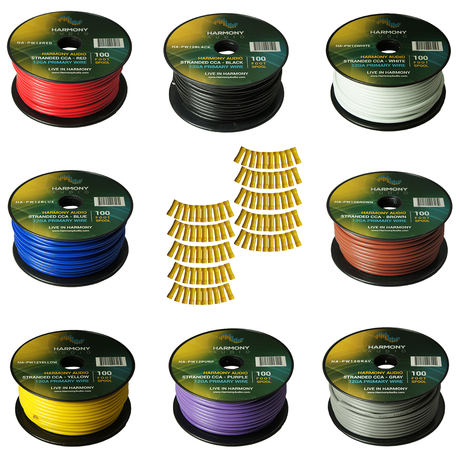 Gauge Awg Yellow Power Ground Wire Car Audio Sold By The