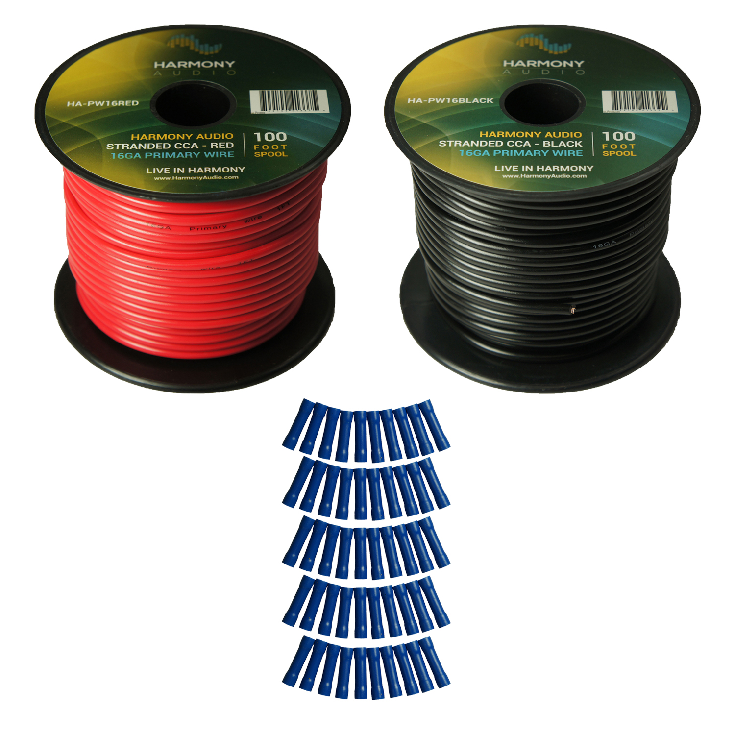 Details about Harmony Car Primary 16 Gauge Power or Ground Wire 200 Feet 2  Rolls Red & Black