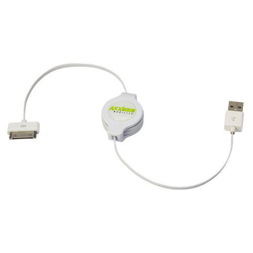 Axxess AXM-US30-ZIP Apple 30 Pin to USB Extension Cable Retractable Design