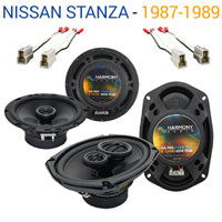 2 R65 /& CXA300.4 Amp Fits Nissan 300ZX 1984-1989 Speaker Replacement Harmony